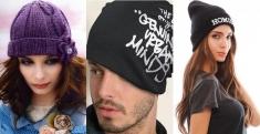 Шапки модные - зимние шапки недорого