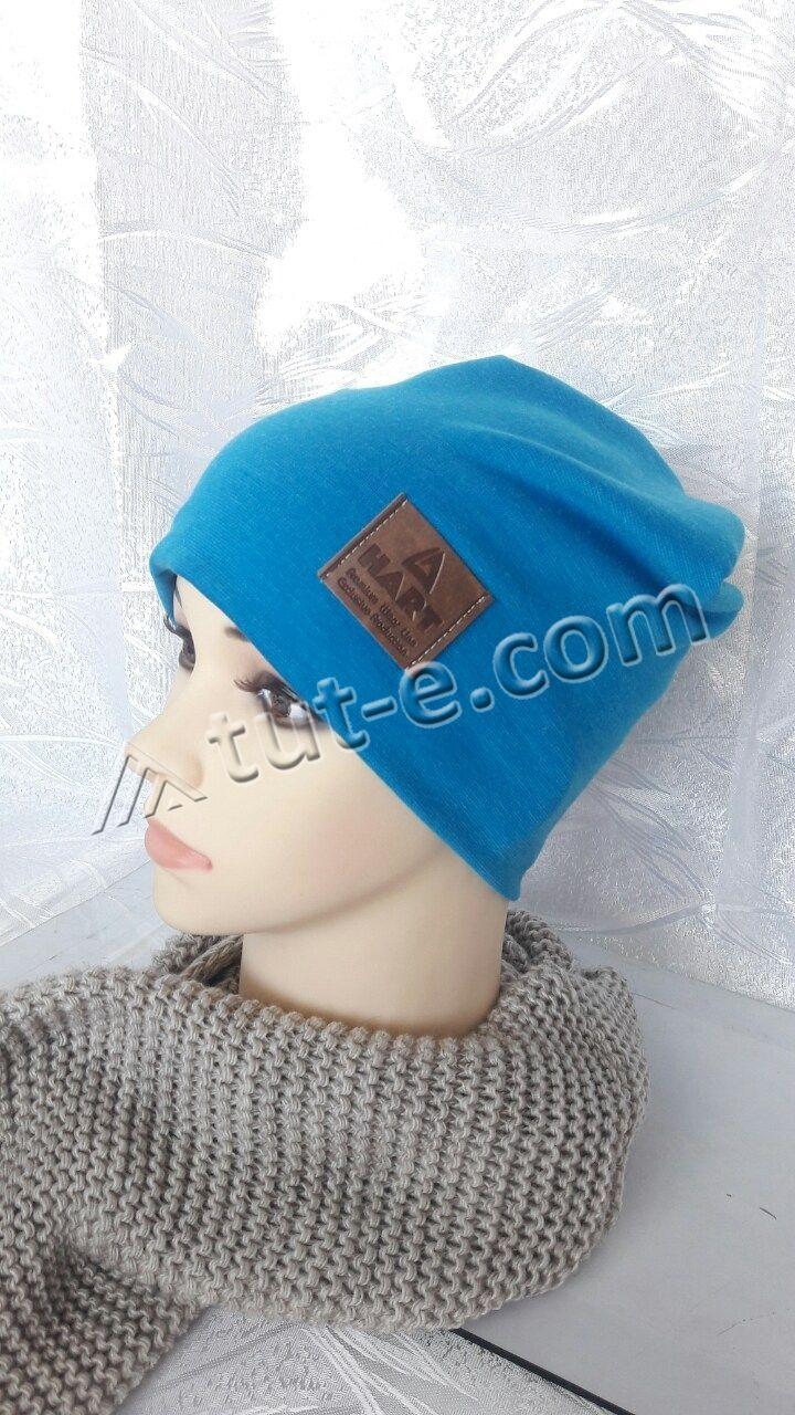 Шапка женская голубая