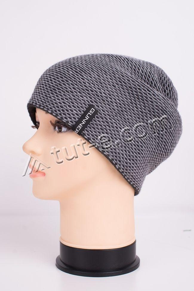 Женская серая шапка Gunner
