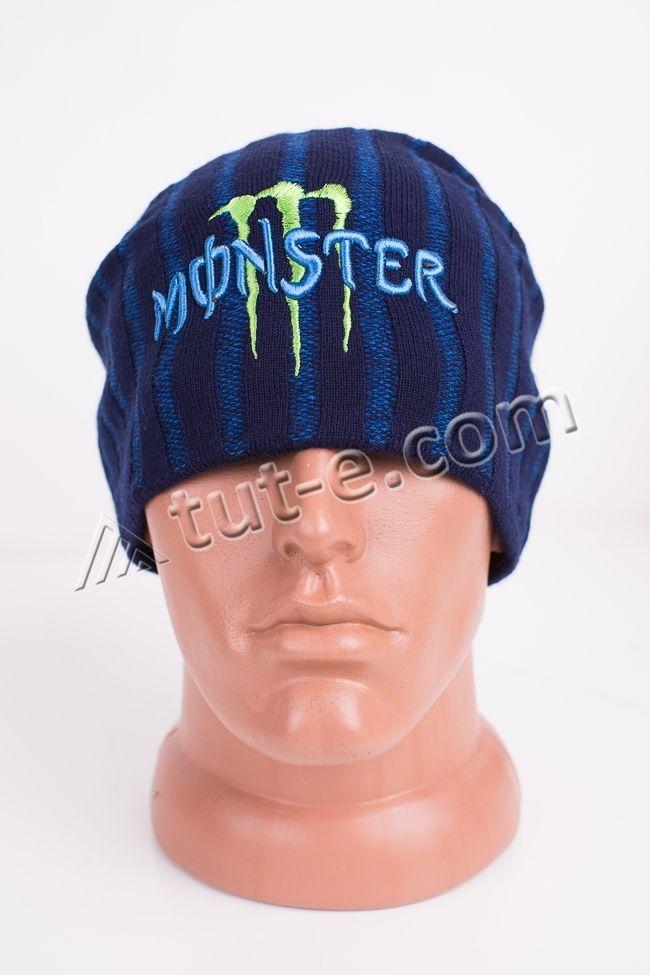 Шапка синяя Monster