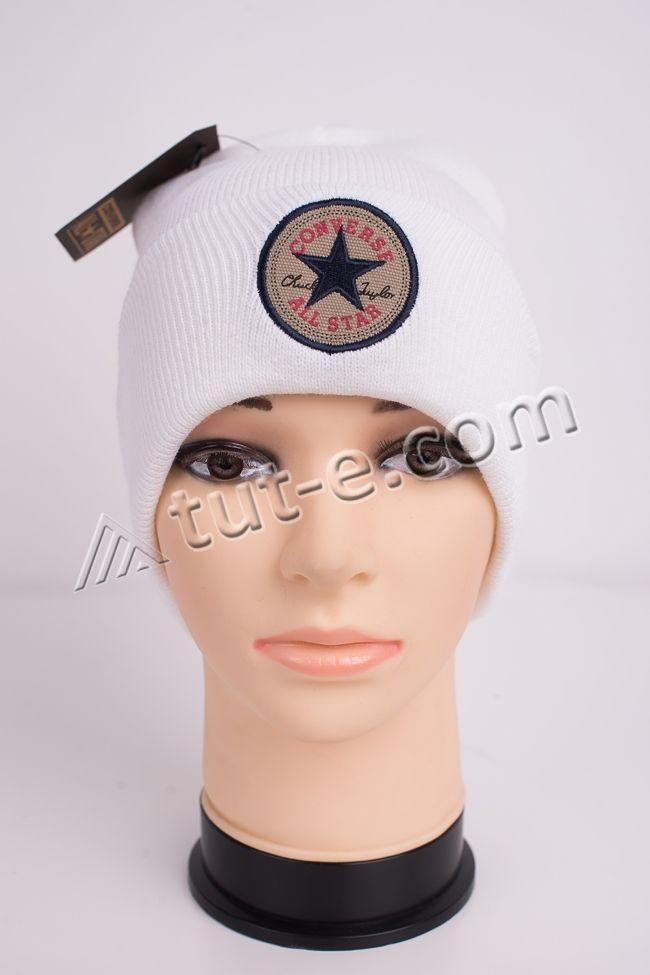 Шапка женская белая Converse