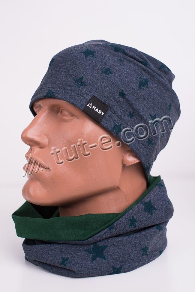 Мужская шапка с шарфом Hart
