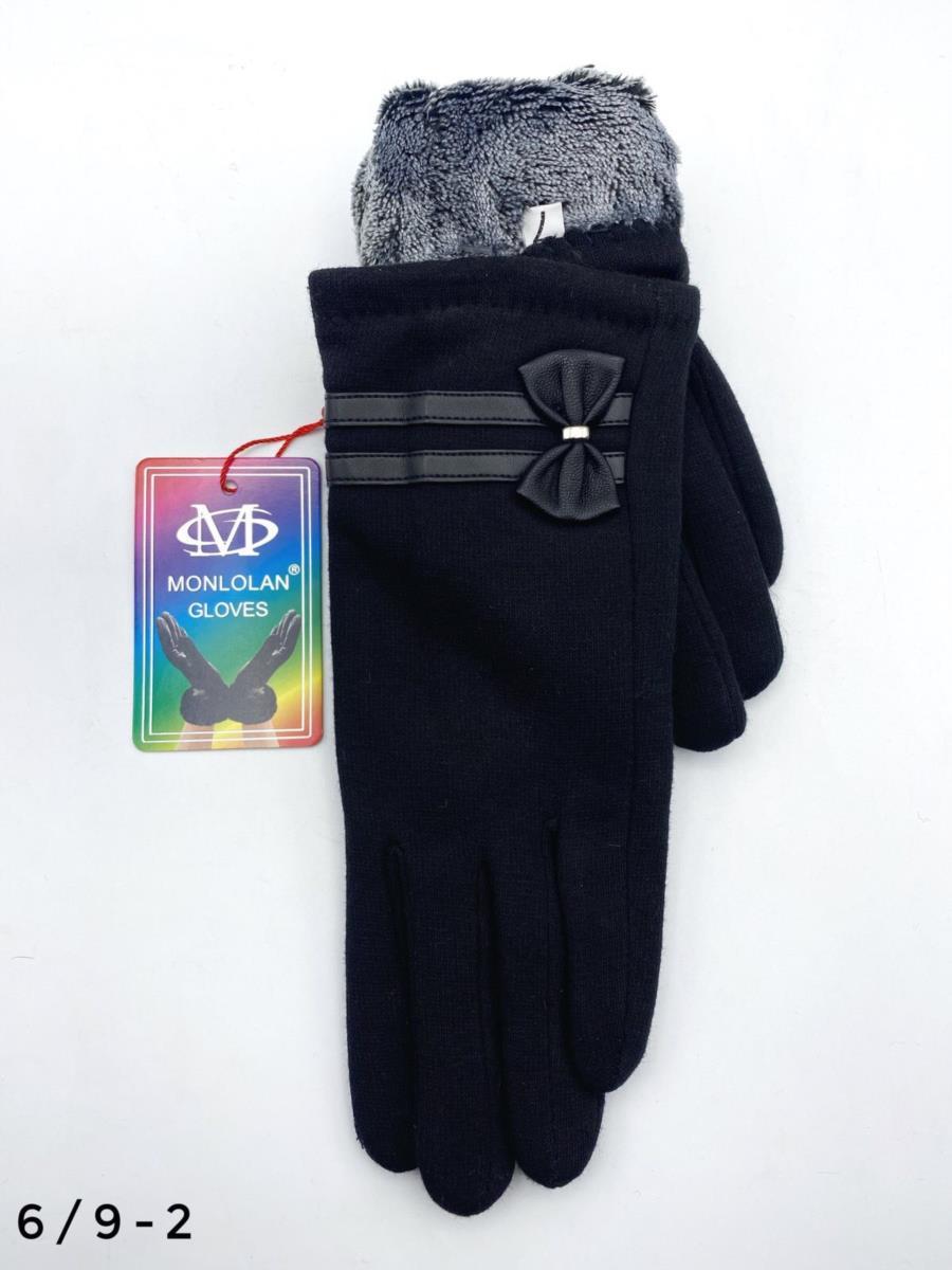 Жіночі трикотажні рукавиці на плюшевій підкладці